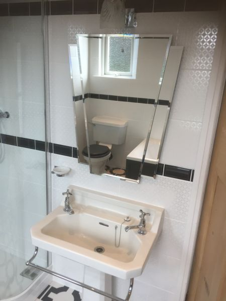 Art Deco style mirror to complement original 30's basin: Swipe To View More Images