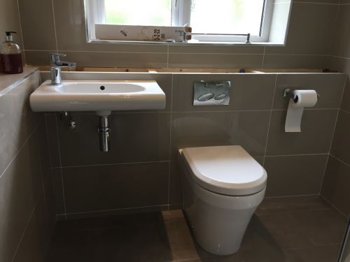 Change in layout to bathroom